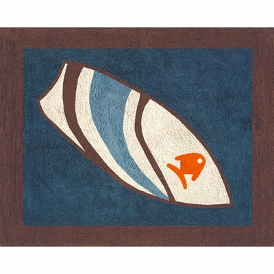 Surf Blue and Brown Accent Floor Rug