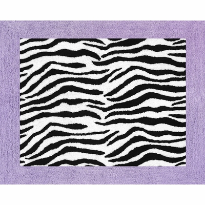Zebra Purple Accent Floor Rug