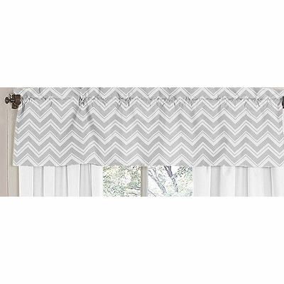 Zig Zag Black and Gray Window Valance