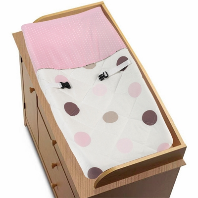 Mod Dots Pink Changing Pad Cover
