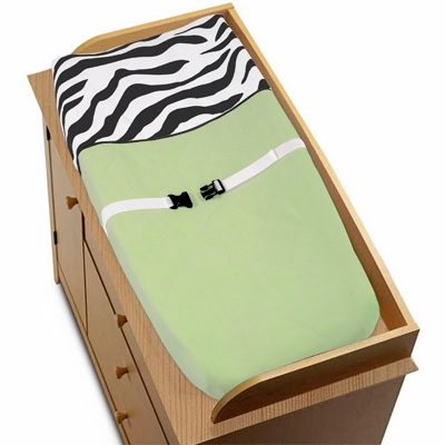 Zebra Lime Changing Pad Cover