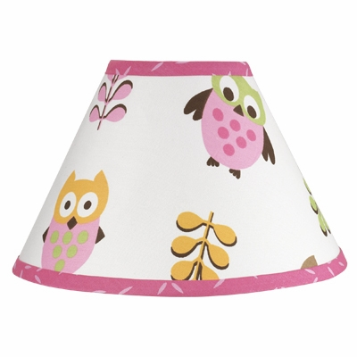 Owl Pink Lamp Shade