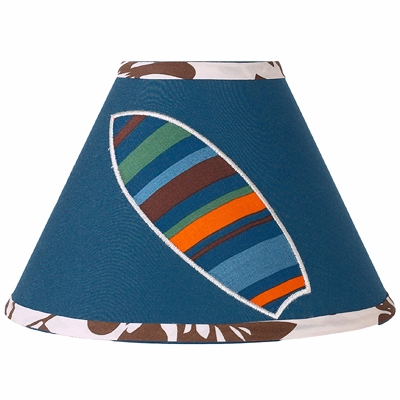 Surf Blue and Brown Lamp Shade