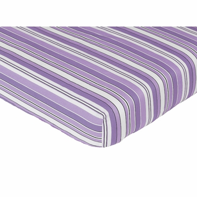 Kaylee Collection Fitted Crib Sheet - Stripe Print
