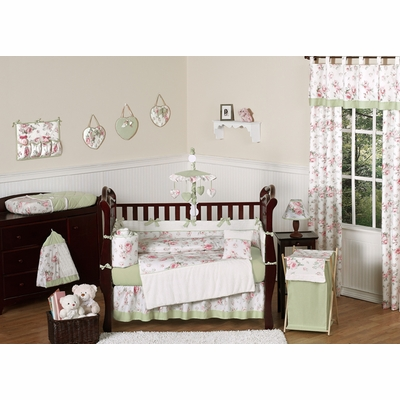 Riley's Roses Crib Bedding Collection