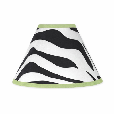 Zebra Lime Lamp Shade