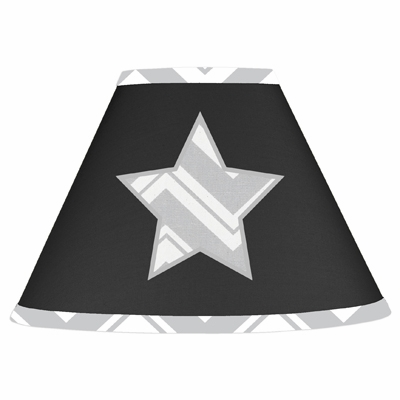 Zig Zag Black and Gray Lamp Shade