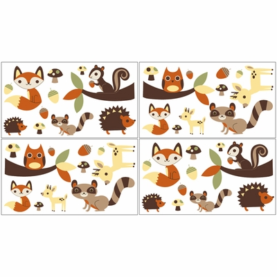 Forest Friends Wall Decals - Set of 4 Sheets