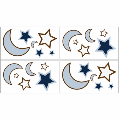 Starry Night Wall Decals - Set of 4 Sheets