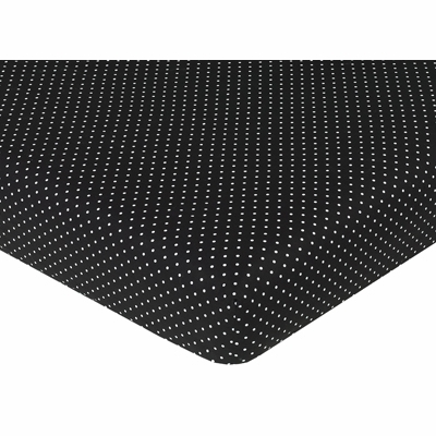 Madison Collection Fitted Crib Sheet - Mini Polka Dot
