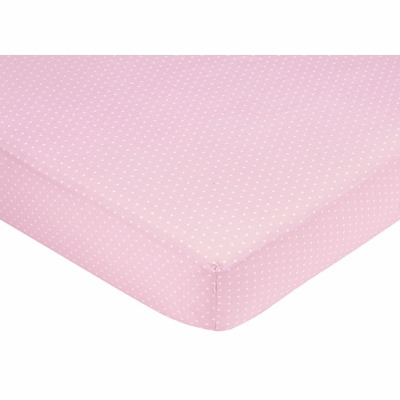 Mod Dots Pink Crib Sheet - Mini Dot Print