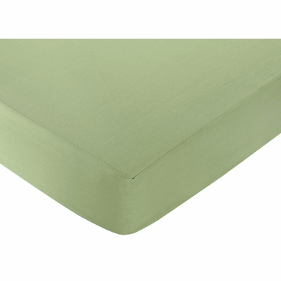 Monkey Collection Fitted Crib Sheet - Solid Green