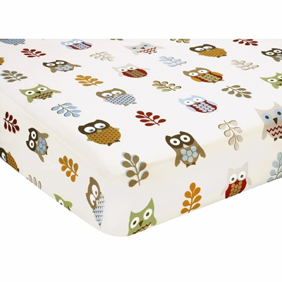 Owl Crib Sheet - Owl Print