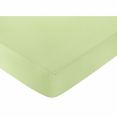 Princess Black, White and Green Collection Crib Sheet - Green