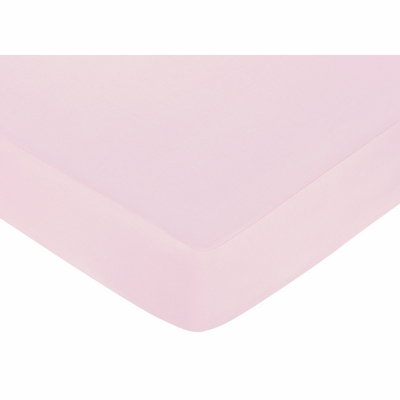 Sophia Collection Crib Sheet - Solid Pink