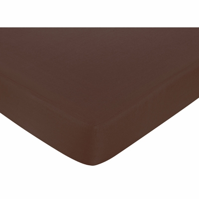 Starry Night Collection Fitted Crib Sheet - Chocolate Brown