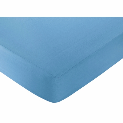 Surf Blue and Brown Collection Fitted Crib Sheet - Blue