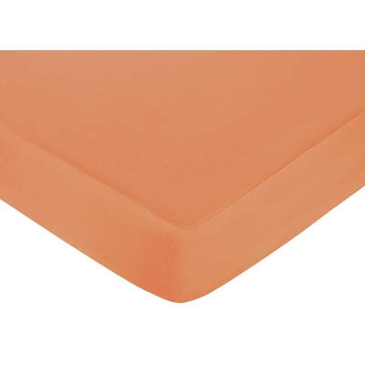 Surf Pink and Orange Collection Fitted Crib Sheet - Solid Orange
