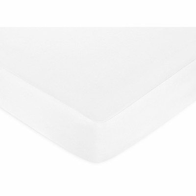 Standard Crib and Toddler Sheet - Solid White Cotton