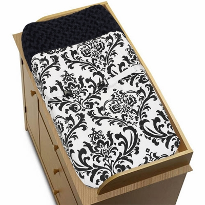 Isabella Black and White Collection Changing Pad Cover