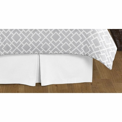 Diamond Gray and White Queen Bed Skirt