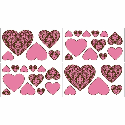 Bella Pink Wall Decals - Set of 4 Sheets