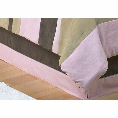 Soho Pink and Brown Queen Bed Skirt