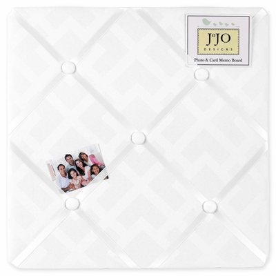 Diamond White Fabric Memo Board