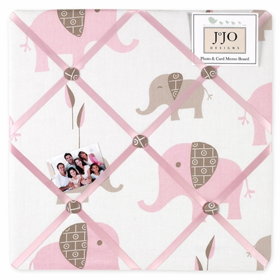 Elephant Pink Fabric Memo Board