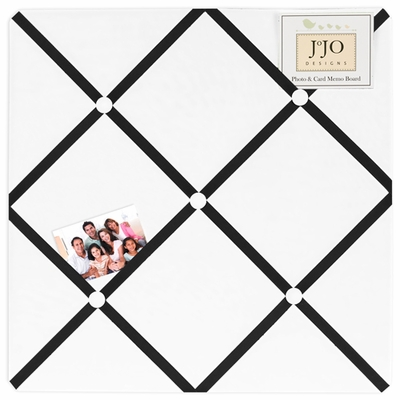 Hotel White and Black  Fabric Memo Board