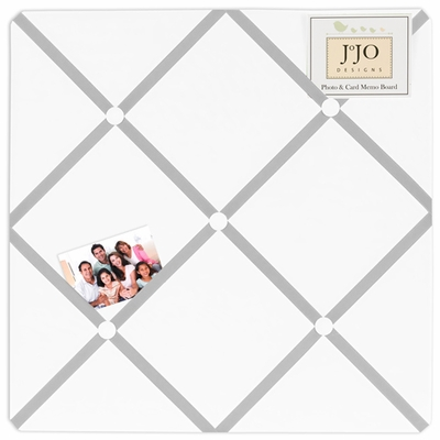 Hotel White and Gray  Fabric Memo Board