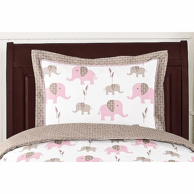 Elephant Pink Pillow Sham