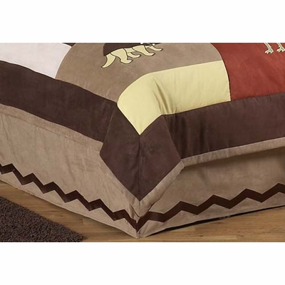 Dinosaur Land Queen Bed Skirt