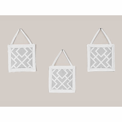 Diamond Gray and White Wall Hangings