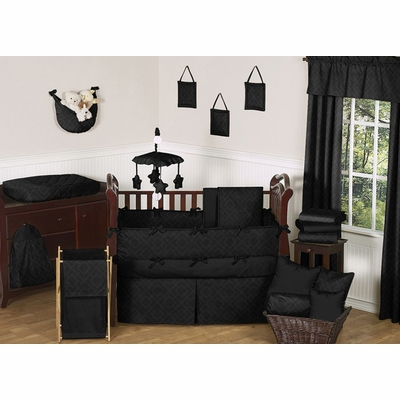 Diamond Black Crib Bedding Collection