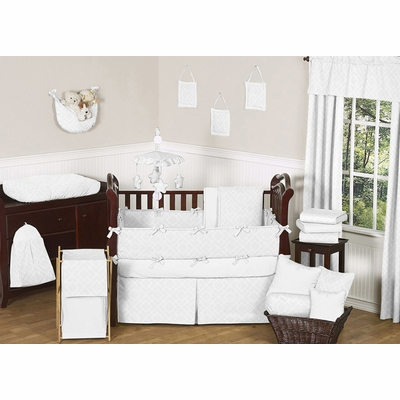 Diamond White Crib Bedding Collection