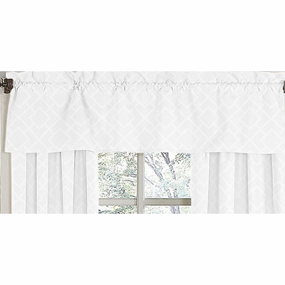 Diamond White Window Valance