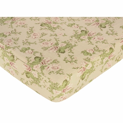 Annabel Crib Sheet - Floral Print