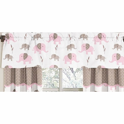 Elephant Pink Window Valance