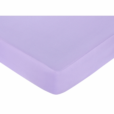 Butterfly Pink and Purple Collection Fitted Crib Sheet - Solid Purple