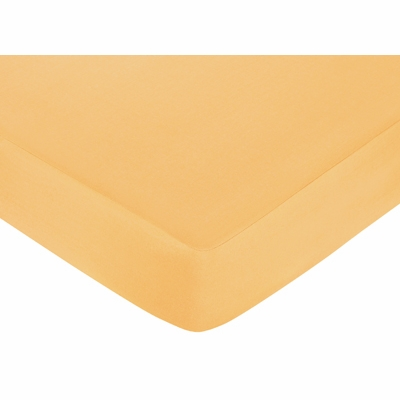 Butterfly Pink and Orange Collection Fitted Crib Sheet - Solid Orange