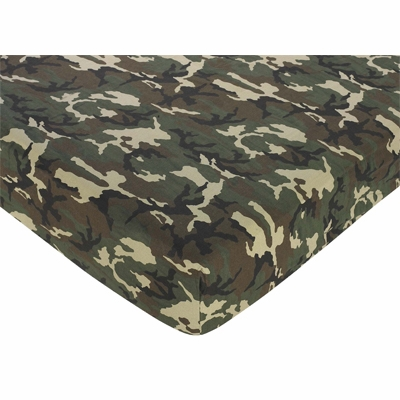 Camo Green Crib Sheet - Camo Print