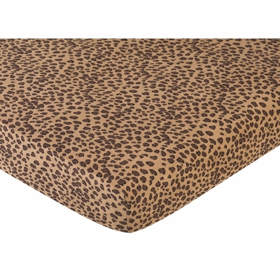 Cheetah Pink Collection Fitted Crib Sheet - Cheetah Print Microsuede