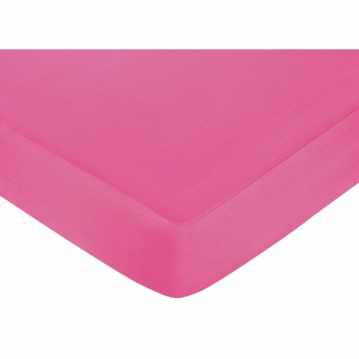 Circles Pink Crib Sheet - Solid Pink
