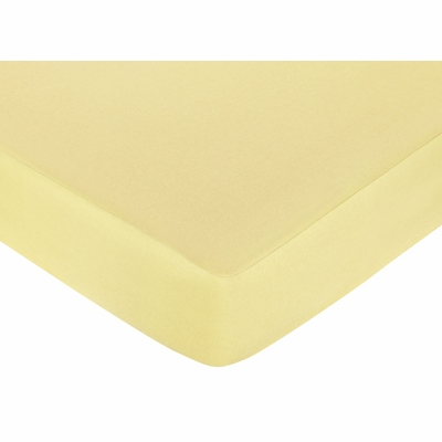 Construction Collection Fitted Crib Sheet - Solid Yellow