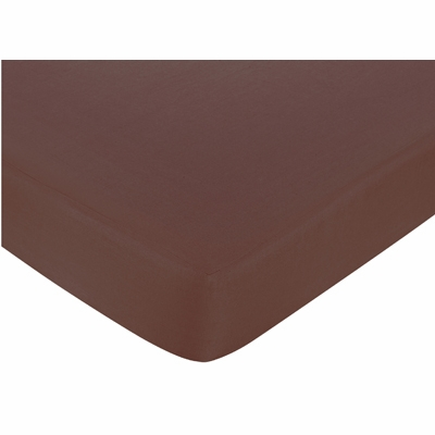 Deco Dot Crib Sheet - Chocolate Brown