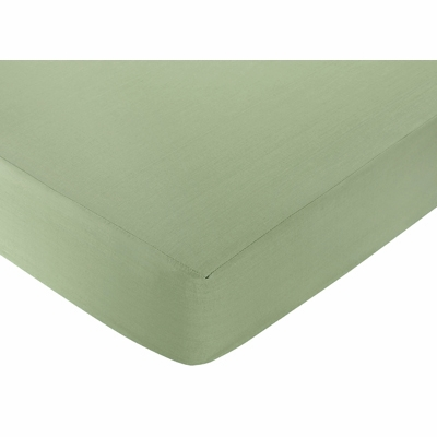 Dinosaur Land Collection Fitted Crib Sheet - Solid Green