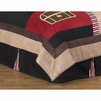 Pirate Treasure Cove Queen Bed Skirt