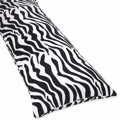Zebra Lime Collection Full Length Body Pillow Cover