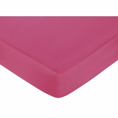 Hot Dot Crib Sheet - Hot Pink